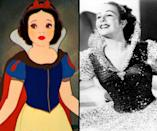 """<div class=""""caption-credit""""> Photo by: Walt Disney/Everett Collection</div><b>Snow White/Margaret Champion</b> <br> In addition to modeling the lead in """"Snow White and the Seven Dwarves,"""" Champion also worked on """"Pinocchio"""" (1940) and """"Fantasia"""" (1940)."""