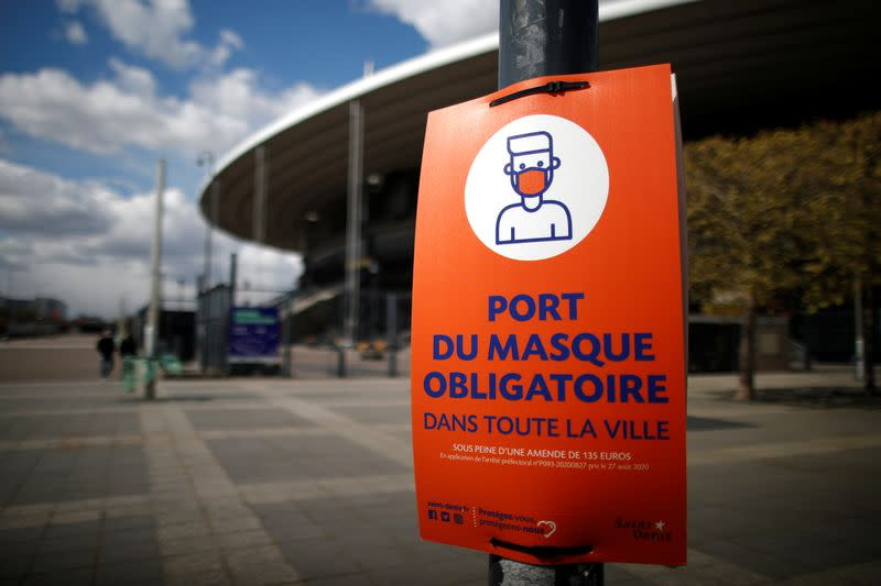 Vaccinations begin at the Stade de France stadium opened as a mass vaccination center