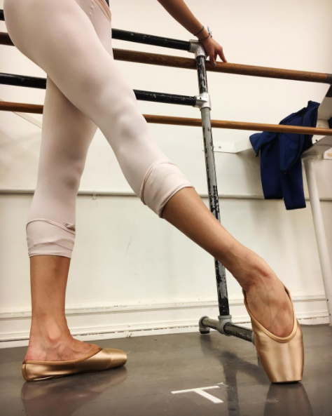 """<p>Usually pointe shoes come in pink satin to match the shade of ballet tights. Often times, dancers of color have to paint their shoes a darker shade to look more flattering on their skin tones. <a rel=""""nofollow"""" href=""""http://dancer.com/"""">Gaynor Minden</a>, a pointe shoe and dance accessory brand, just announced they'll be releasing two new shades of nude, Cappuccino and Espresso, made specifically for women of color.</p>"""