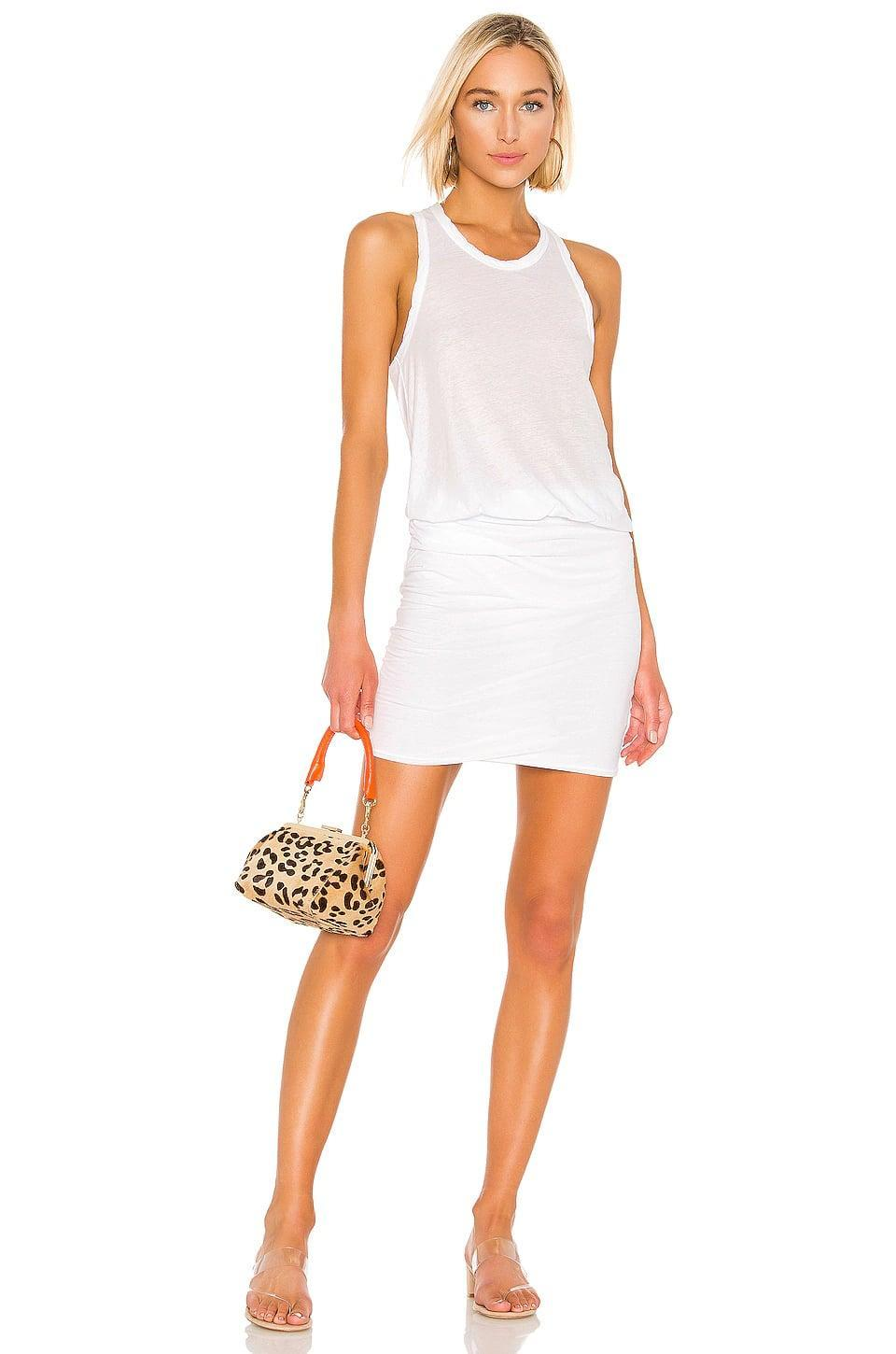 <p>This <span>James Perse Racerback Blouson Dress</span> ($175) has the comfortable t-shirt material paired with a sexier ruched silhouette. We're all in.</p>