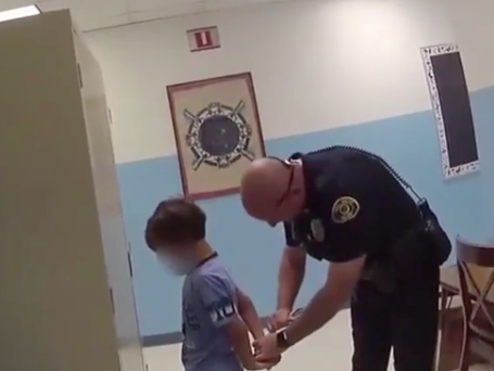 A video has shown police try to handcuff a boy, whose lawyers say has special needs: Key West Police Department