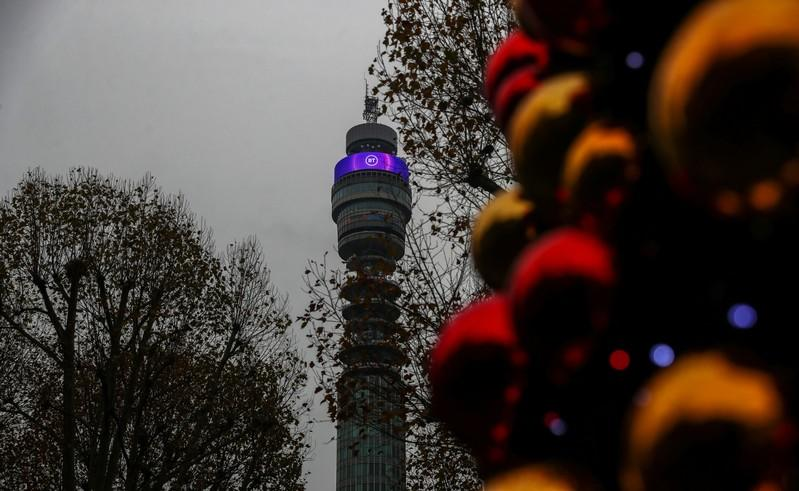 BT Tower owned by British Telecom is pictured in London