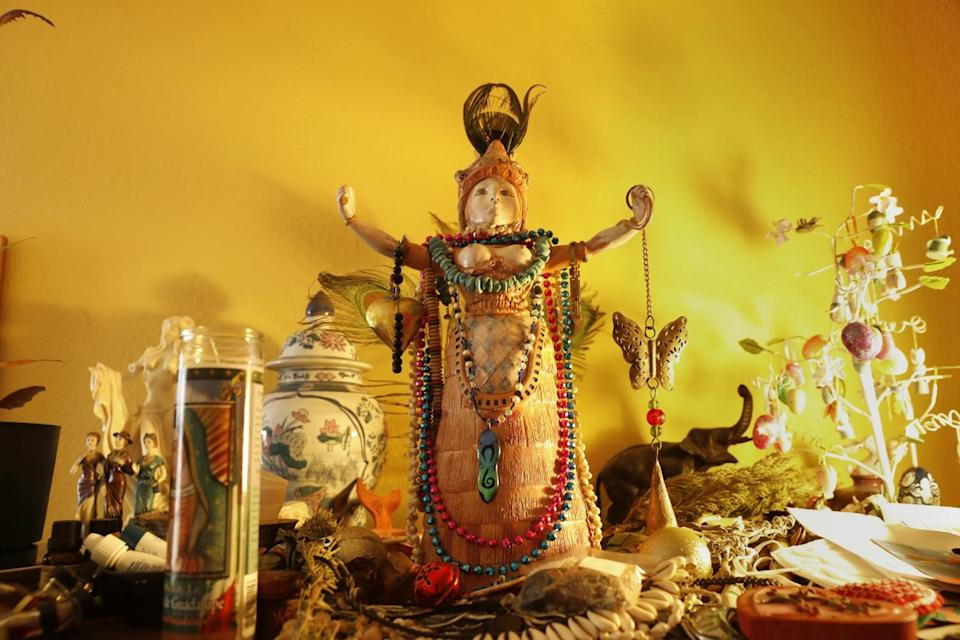 A special altar in Zsuzsanna Budapest's living room.