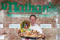 Nathan's Famous Fourth of July International Hot Dog-Eating Contest in Brooklyn, New York