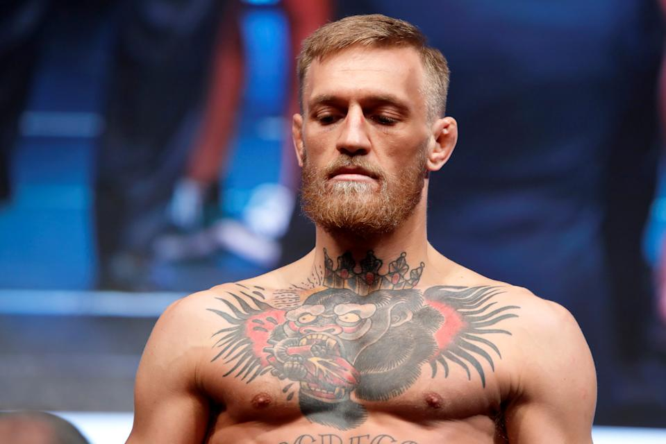 "Conor McGregor admitted that he was in the wrong for attacking a man in an Irish pub and said that he'd ""made amends. (Reuters)"