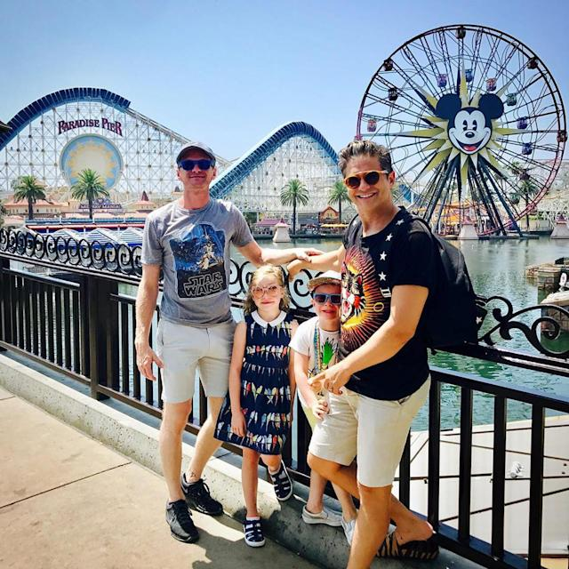 Neil Patrick Harris and husband David Burtka with their twins. (Photo: Neil Patrick Harris via Instagram)