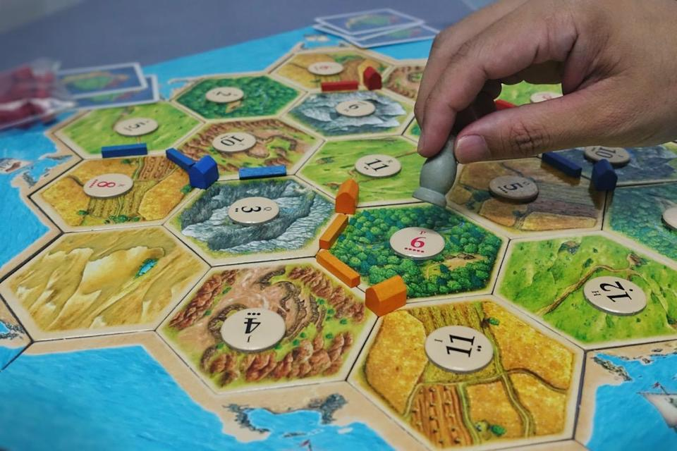 Board game party with my friends. Settlers of Catan