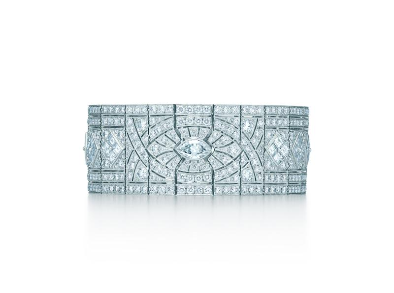 Tiffany & Co. platinum bracelet with diamonds, valued at $155,000.
