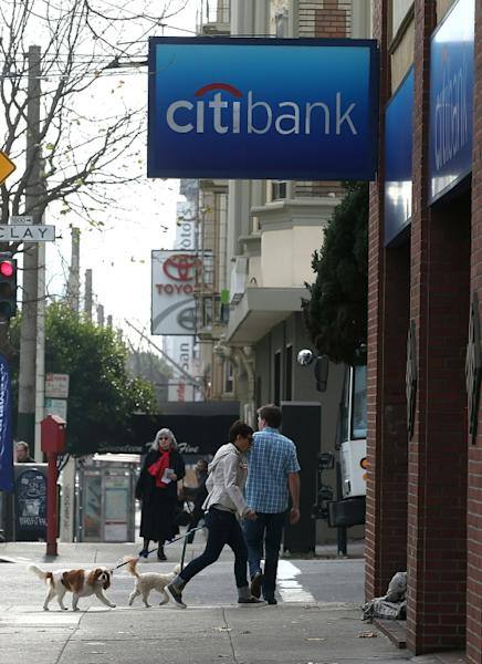 A San Francisco branch of Citigroup, which reported higher fourth-quarter profits (AFP Photo/JUSTIN SULLIVAN)