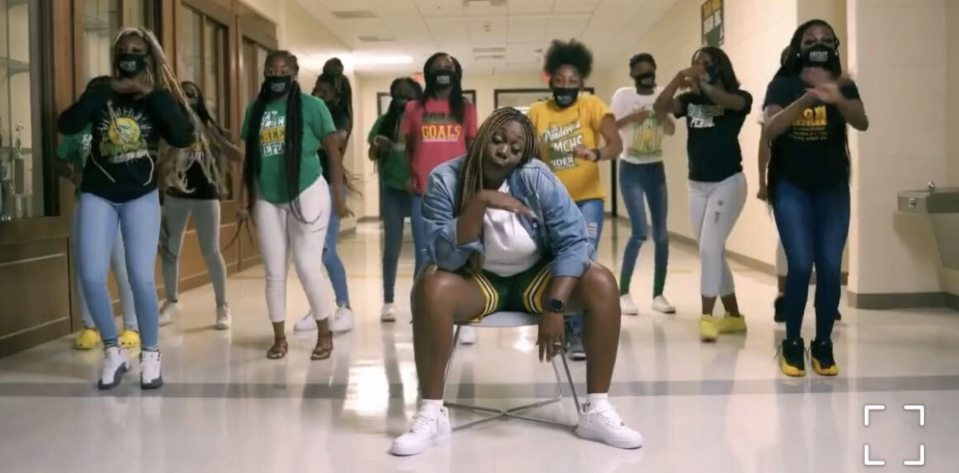 Georgia teachers Callie Evans and Audri Williams teamed up with their school's cheer squad with a rap video marking the start of the school year. (Photo: PR)