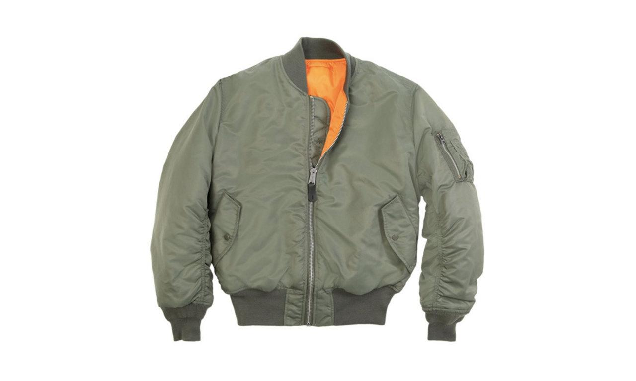 "<p>MA-1 Flight Jacket, $135, <a href=""http://www.alphaindustries.com/mens-flight-jackets/alpha-industries-ma-1-flight-jacket.htm"">alpha industries</a></p>"