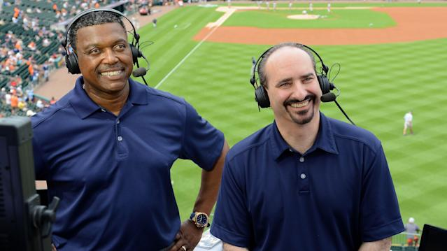 """Rod Allen and Mario Impemba have reportedly lost their jobs calling <a class=""""link rapid-noclick-resp"""" href=""""/mlb/teams/det"""" data-ylk=""""slk:Tigers"""">Tigers</a> games after an alleged attack over a chair at work. (Getty)"""