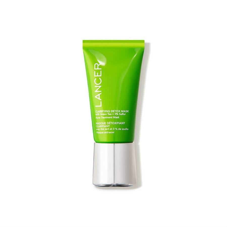 "<p>Those with acne-prone and oily skin will love the Lancer Clarifying Detox Mask with Green Tea and 3% Sulfur, which is made with a blend of clay, sulfur, azelaic acid, and fruit extracts. It was even created by a dermatologist for his own clients. According to Lancer himself, ""Acne and aging are triggered by the same mechanisms,"" and his skin-care products take on both with a double whammy. Because of this, the mask won a 2019 <em>Allure</em> Best of Beauty Award.</p> <p><strong>$75 (<a href=""https://shop-links.co/1683930668862378481"" rel=""nofollow"">Shop Now</a>)</strong></p>"