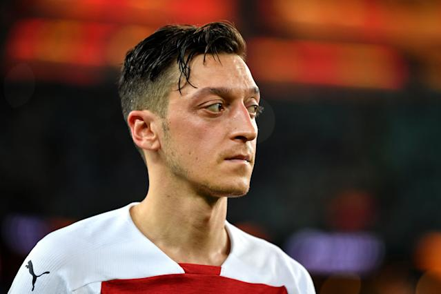 Mesut Ozil in action for Arsenal. (Photo by Harold Cunningham - UEFA/UEFA via Getty Images)