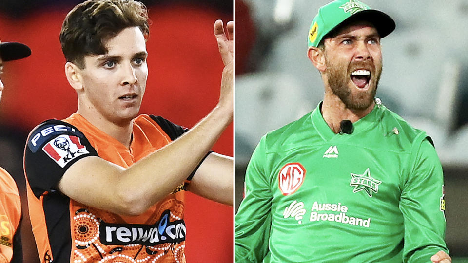 Jhye Richardson and Glenn Maxwell, pictured here in action in the BBL.
