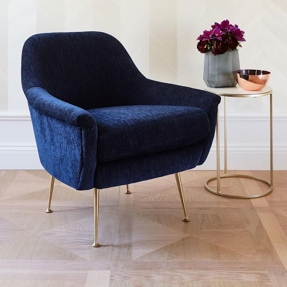 """<h3><a href=""""https://www.westelm.com/"""" rel=""""nofollow noopener"""" target=""""_blank"""" data-ylk=""""slk:West Elm"""" class=""""link rapid-noclick-resp"""">West Elm</a></h3><br><strong>Sale:</strong> Up to <a href=""""https://www.westelm.com/shop/furniture/all-living-room/?cm_re=globalbanner-_-LivingRoomSale-_-slot1"""" rel=""""nofollow noopener"""" target=""""_blank"""" data-ylk=""""slk:40% off sofas, sectionals, & chairs;"""" class=""""link rapid-noclick-resp"""">40% off sofas, sectionals, & chairs;</a> up to <a href=""""https://www.westelm.com/shop/furniture/all-bedroom/?cm_re=globalbanner-_-AllBedroom-_-slot2"""" rel=""""nofollow noopener"""" target=""""_blank"""" data-ylk=""""slk:30% off bedroom furniture"""" class=""""link rapid-noclick-resp"""">30% off bedroom furniture</a> and <a href=""""https://www.westelm.com/shop/furniture/coffee-tables/?cm_re=globalbanner-_-AllCoffeeSideTables-_-slot3"""" rel=""""nofollow noopener"""" target=""""_blank"""" data-ylk=""""slk:coffee tables"""" class=""""link rapid-noclick-resp"""">coffee tables</a><br><strong>Promo Code:</strong> None<br><strong>Dates:</strong> Limited time<br><br>West Elm is a furniture fan fave, especially when its sale hits. Whether you're in the market for an investment piece like a sectional or you're in need of new bedroom furniture, you might just find exactly what you're looking for (for less!).<br><br><br><br><strong>West Elm</strong> Phoebe Chair, $, available at <a href=""""https://go.skimresources.com/?id=30283X879131&url=https%3A%2F%2Fwww.westelm.com%2Fproducts%2Fphoebe-chair-h2643%2F"""" rel=""""nofollow noopener"""" target=""""_blank"""" data-ylk=""""slk:West Elm"""" class=""""link rapid-noclick-resp"""">West Elm</a>"""
