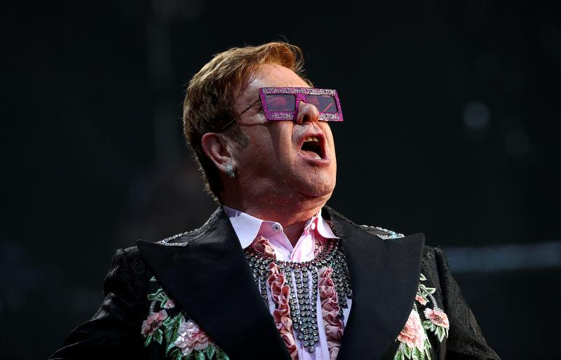 A day in Elton John's life: Buy Rolls, write hit song, dine with Ringo