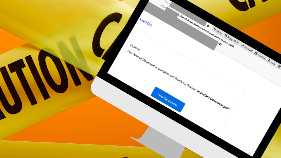 MailGuard has intercepted a phishing email attempting to steal Aussies' bank details. Source: Getty/MailGuard