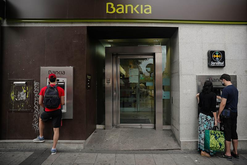 Una oficina de Bankia en Madrid. (Photo: Anadolu Agency via Getty Images)