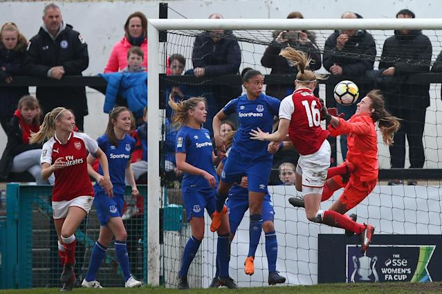 Arsenal and Chelsea set up all-London Women's FA Cup Final with Everton and Manchester City wins