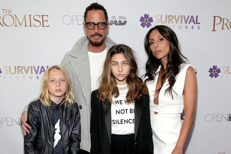 Chris Cornell with family | Paul Zimmerman/WireImage)