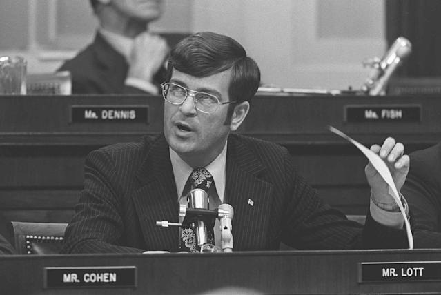 Rep. Trent Lott, R-Miss., offers his views on the impeachment question before the House Judiciary Committee in Washington, D.C., in 1974. (Photo: AP)