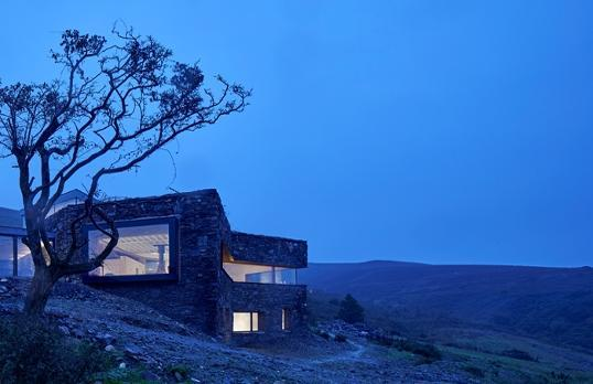 This house moulded into the west facing slope of Sartfell on the Isle of Man, with views overlooking the Irish Sea has made it to the shortlist too. (Picture: Edmund Sumner)