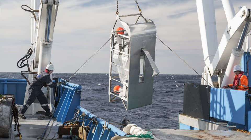 Samples were taken from nearly five kilometres deep into Australia's eastern abyss. Source: CSIRO/Museums Victoria and Marine National Facility