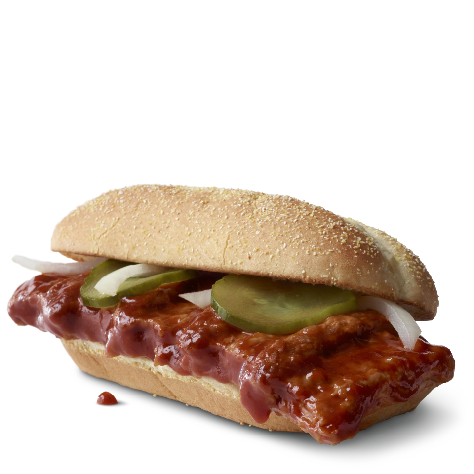 Behold the 2020 McRib, returning nationwide, albeit briefly, on Dec. 2. (Photo: McDonald's)