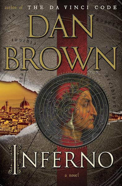 "FILE - This file book cover image released by Doubleday shows ""Inferno,"" by Dan Brown. Brown's latest Robert Langdon caper was Amazon.com's No. 1 seller for 2013, the online retailer announced Monday, Dec. 16, 2013. (AP Photo/Doubleday, File)"