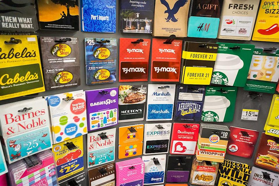 Even giftcards can be passed on nowadays. (Getty)