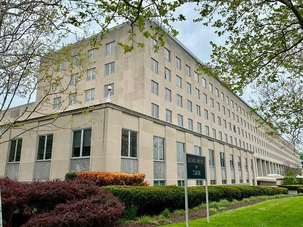 The State Department (pictured) has seen its activities significantly reduced during the pandemic (AFP via Getty Images)