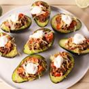 """<p>Pure goodness in the palm of your hand.</p><p>Get the <a href=""""https://www.delish.com/uk/cooking/recipes/a35427253/taco-stuffed-avocados-recipe/"""" rel=""""nofollow noopener"""" target=""""_blank"""" data-ylk=""""slk:Taco Stuffed Avocados"""" class=""""link rapid-noclick-resp"""">Taco Stuffed Avocados</a> recipe.</p>"""