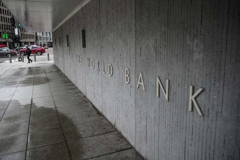 The bank touts a global decline in poverty as evidence of its successes (AFP Photo/Eric BARADAT)