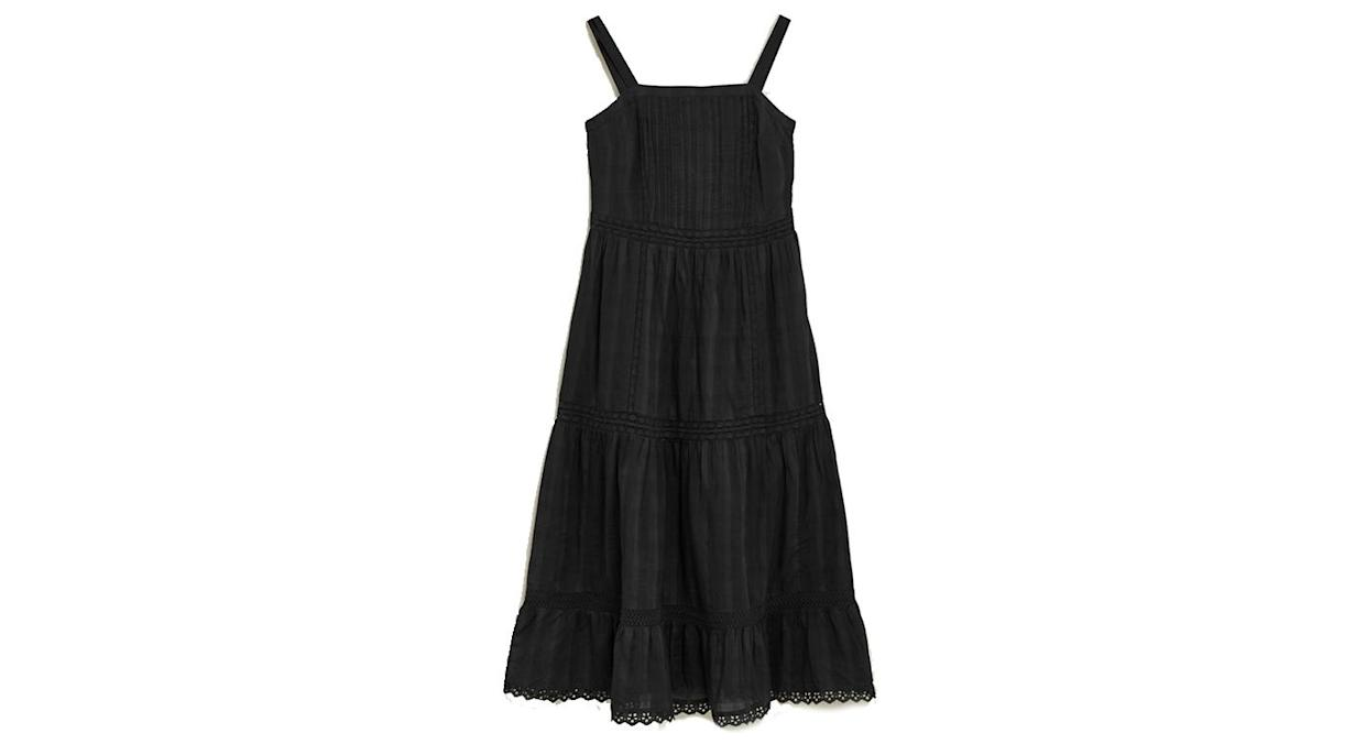 Pure Cotton Lace Insert Midaxi Smock Dress