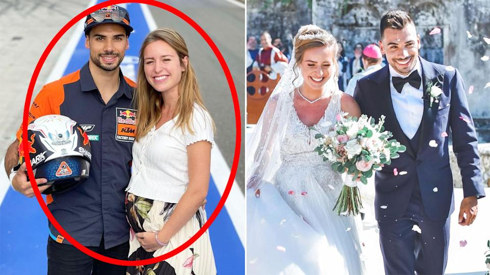 Seen here, Miguel Oliveira and stepsister Andreia Pimenta recently tied the knot.