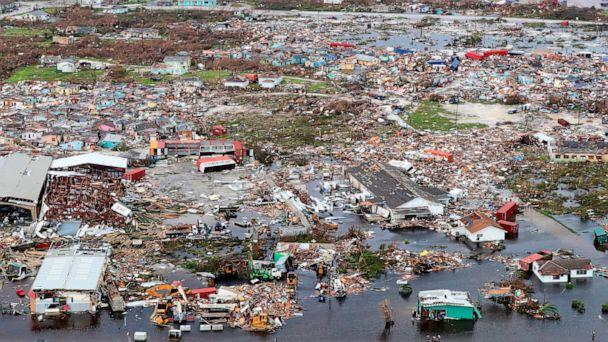 PHOTO: Debris and destruction are seen in the aftermath of Hurricane Dorian on the island Great Abaco in the Bahamas, Sept. 3, 2019. (Lphoto Paul Halliwell/AFP/Getty Images)