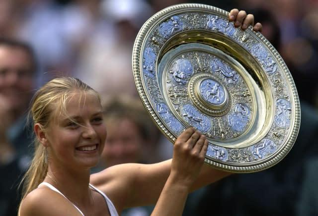 17-year-old Maria Sharapova defeated Serena Williams in the 2004 Wimbledon final to catapult her into the tennis stardom (Rebecca Naden/PA)