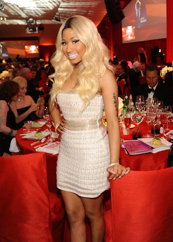 Nicki Minaj attends Chopard at 21st Annual Elton John AIDS Foundation Academy Awards Viewing Party at Pacific Design Center on February 24, 2013 in West Hollywood, California.