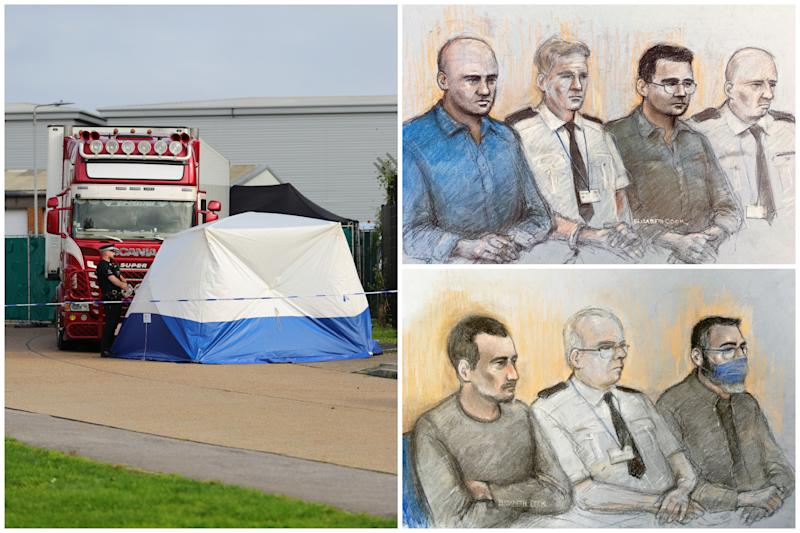 The trial of four men has got under way in relation to 39 people who were found dead in a lorry container in 2019. (PA/Elizabeth Cook)