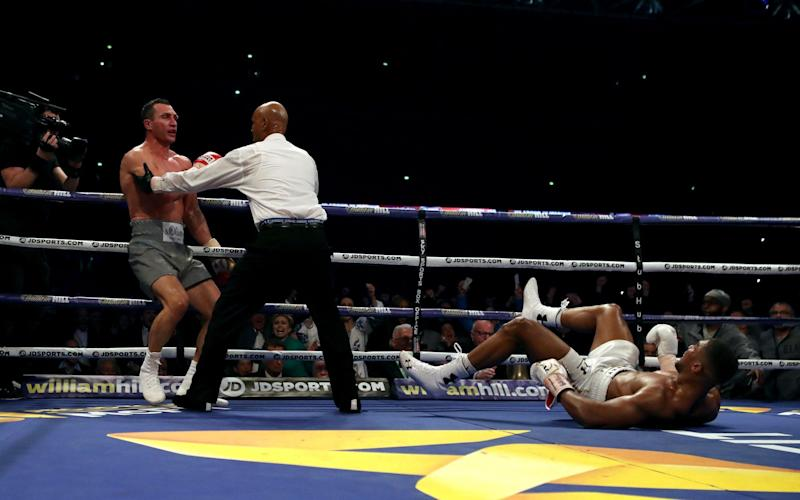 Joshua knockdown - Credit:  Nick Potts/PA