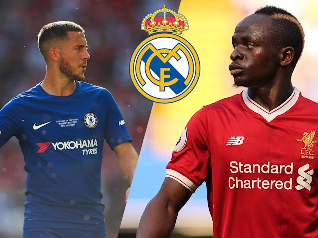 Could either Eden Hazard and Sadio Mane be joining Real Madrid after Zinedine Zidane's departure?
