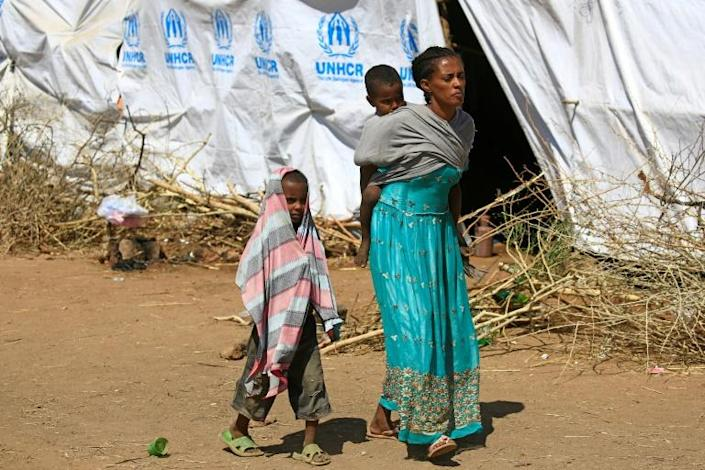 Some of the nearly 46,000 refugees driven into Sudan by the Ethiopian conflict