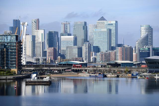 The Canary Wharf skyline. Photo: Kirsty O'Connor/PA Images via Getty Images