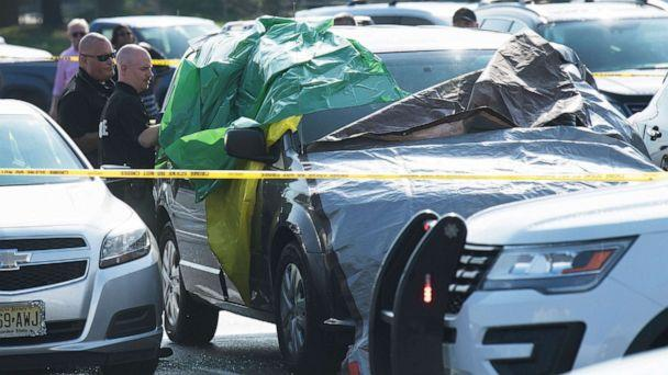 PHOTO: Authorities investigate the the death of a child found inside a vehicle in the parking lot of the PATCO Lindenwold Station, in Lindenwold, N.J., Aug. 16, 2019. (Courier-Post via USA Today Network)
