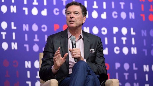 PHOTO: James Comey speaks onstage during the 2019 Politicon at Music City Center on Oct. 26, 2019, in Nashville, Tennessee. (Jason Kempin/Getty Images for Politicon)