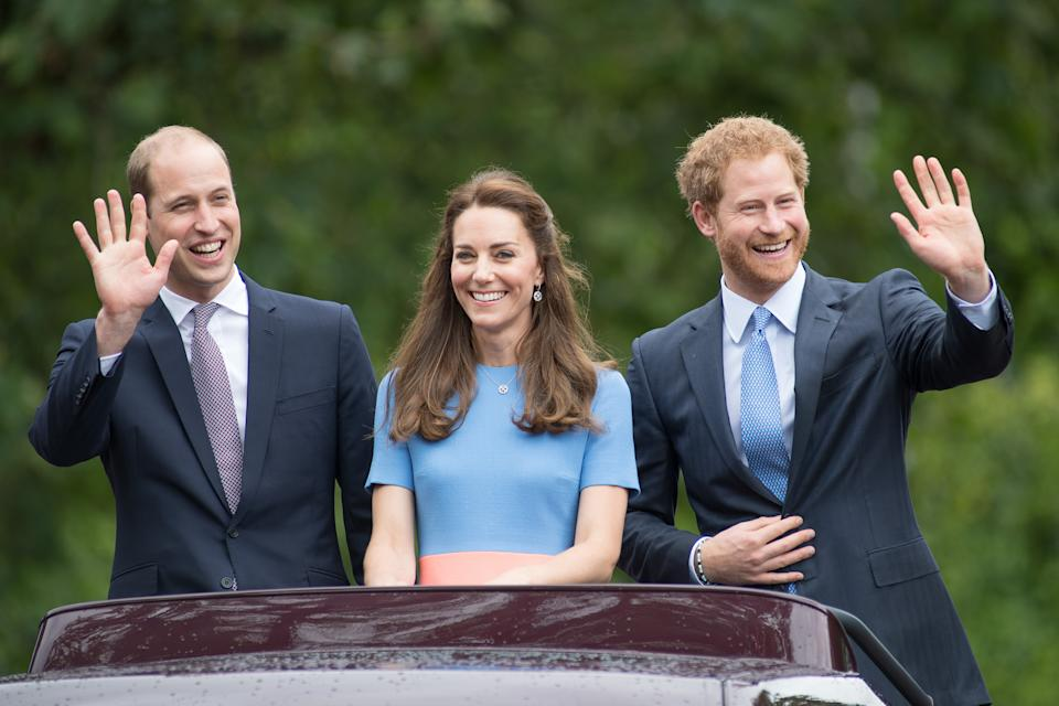William, Kate and Harry. [Photo: Getty]