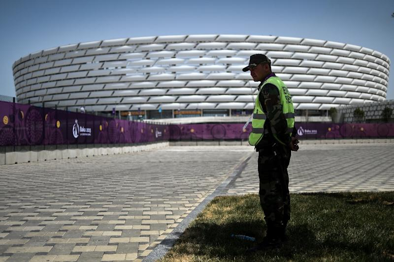 The Olympic Stadium in Baku will host this year's Europa League final (AFP Photo/KIRILL KUDRYAVTSEV)
