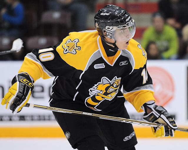 Nail Yakupov of the Sarnia Sting. Photo by Aaron Bell/CHL Images.