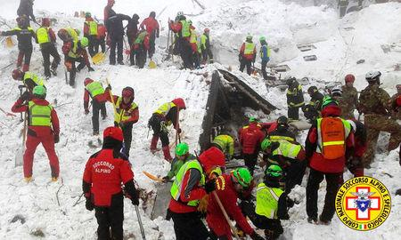 Italy avalanche: Three puppies found alive, giving hope for more survivors